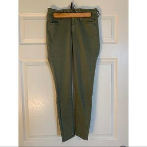 Army Green Cotton Jeggings